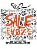 销售横幅、海报或者飞行物设计 免版税图库摄影