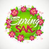 春天销售横幅、海报或者飞行物设计 库存图片