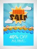夏天销售横幅、海报或者飞行物设计 库存照片