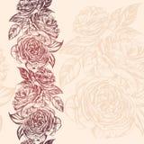 Абстрактная флористическая зацветая розовой иллюстрация вектора текстуры предпосылки ветви нарисованная рукой Стоковое Изображение