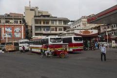 Κύρια στάση λεωφορείου στη Πνομ Πενχ Στοκ Εικόνες