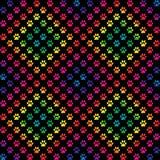 爪子在梯度在金刚石样式的彩虹颜色打印 图库摄影