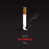 Отсутствие знак и символ дня табака с темной предпосылкой Стоковые Фото