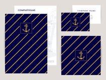Комплект корпоративной тождественности Собрание моря Стоковая Фотография