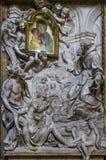 圣贾科莫在奥古斯塔教会,罗马,意大利里 免版税库存照片