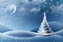 圣诞节冰冷的结构树版本 免版税库存图片