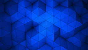 蓝色三角多角形背景 免版税库存图片