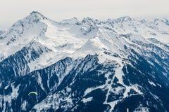 阿尔卑斯横向冬天 图库摄影