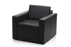 现代扶手椅子黑色图象的皮革 库存图片