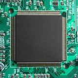 μικροεπεξεργαστής υπολογιστών κινηματογραφήσεων σε πρώτο πλάνο τσιπ Στοκ Εικόνες