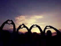 Влюбленность с друзьями Стоковое фото RF