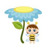 Младенец одетый как пчела Стоковая Фотография RF