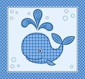 Χαριτωμένος λίγη φάλαινα Στοκ εικόνες με δικαίωμα ελεύθερης χρήσης