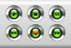 按钮绿色 免版税库存图片