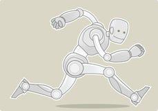 机器人运行中 免版税库存照片