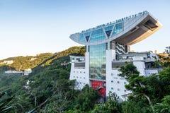 在太平山上面的高峰塔在香港 免版税库存照片