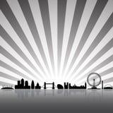 ορίζοντας του Λονδίνου Στοκ εικόνες με δικαίωμα ελεύθερης χρήσης