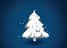 欢乐多雪的结构树 免版税库存照片