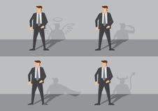 Бизнесмен и его иллюстрация вектора тени Стоковое фото RF