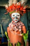 小亲切的男孩在巴布亚新几内亚 免版税库存照片
