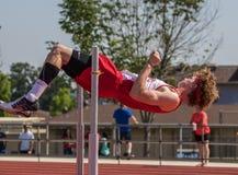 跳高运动员 库存照片