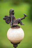 神仙的金属雕象 库存照片