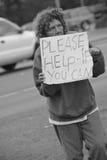朋友无家可归者 免版税库存照片