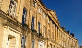 巴恩英国坎登新月形英王乔治一世至三世时期建筑学 图库摄影