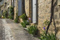 美丽如画的法国街道 免版税库存照片