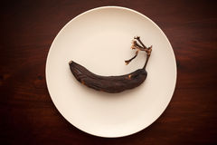 Тухлые старые бананы Стоковые Фото