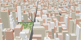 有大厦的大城市 库存照片