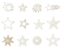 золотистые звезды Стоковые Фотографии RF