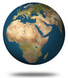 γήινη όψη της Αφρικής Στοκ Φωτογραφίες