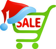圣诞节销售额图标 免版税库存图片