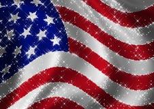 标志闪烁了星形美国 库存照片