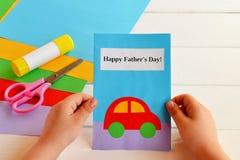 Поздравительная открытка сделанная ребенк Стоковые Фото