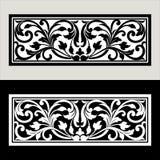 Διανυσματική εκλεκτής ποιότητας χάραξη λογότυπων πλαισίων συνόρων με το αναδρομικό σχέδιο διακοσμήσεων στο παλαιό στυλ ροκοκό δια Στοκ φωτογραφία με δικαίωμα ελεύθερης χρήσης