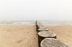 Η θάλασσα της Βαλτικής στην ομίχλη Στοκ Εικόνες