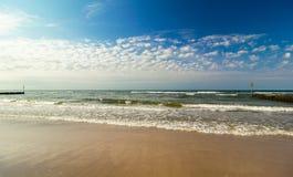 Κύματα στη θάλασσα της Βαλτικής, Πολωνία Στοκ Φωτογραφίες
