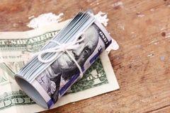 Крен долларовых банкнот Стоковое Изображение RF