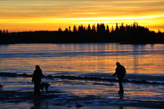 οικογενειακό ηλιοβασ Στοκ φωτογραφίες με δικαίωμα ελεύθερης χρήσης