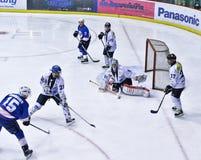 Игра хоккея на льде Стоковое Изображение