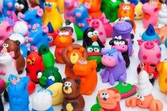 Μεγάλη ομάδα παιχνιδιών αργίλου Στοκ εικόνες με δικαίωμα ελεύθερης χρήσης