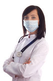 Γιατρός που απομονώνεται θηλυκός Στοκ φωτογραφίες με δικαίωμα ελεύθερης χρήσης