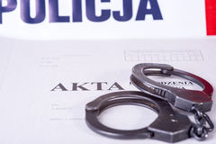 文件警方调查 免版税库存图片