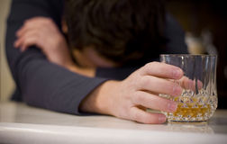 αλκοολισμός Στοκ φωτογραφία με δικαίωμα ελεύθερης χρήσης