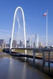 达拉斯桥梁 图库摄影