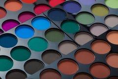 专家的眼影膏板台组成艺术家 免版税库存图片