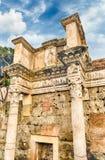 智慧女神,涅尔瓦,罗马,意大利论坛寺庙废墟  库存图片