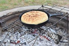 烘烤薄饼面包 库存照片